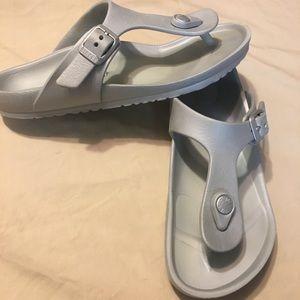 73d1b6c2a Birkenstock Shoes - Birkenstock Gizeh EVA silver sandal